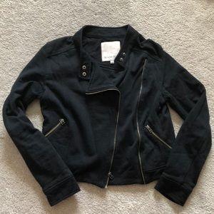 Aritzia Sunday Best black cotton Moto jacket 2